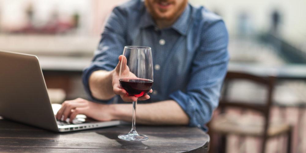 Wine tasting at the bar